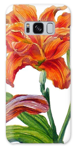 Ruffled Orange Daylily - Hemerocallis Galaxy Case