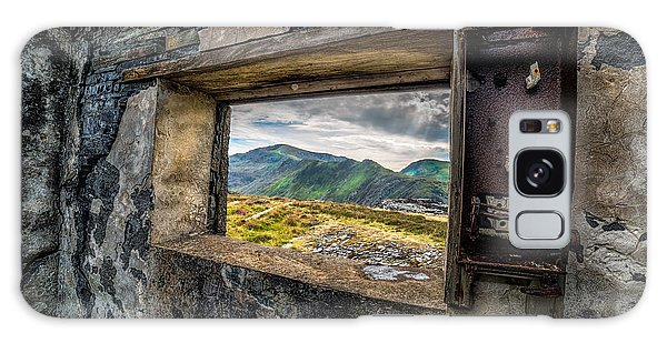 Ruin With A View  Galaxy Case by Adrian Evans