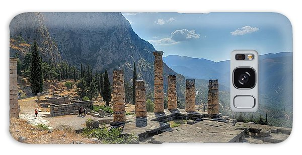 Ruins Of Apollos Temple And The Valley Of Phocis Galaxy Case