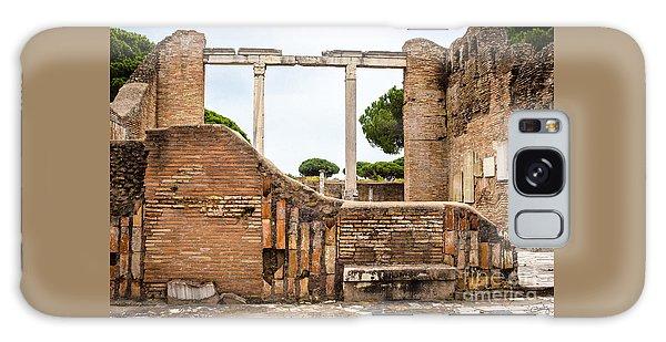 Ruins Of Ostia Antica Galaxy Case