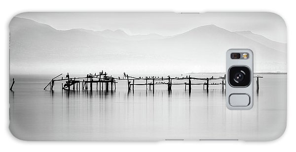 Pier Galaxy Case - Ruins With Birds II by George Digalakis