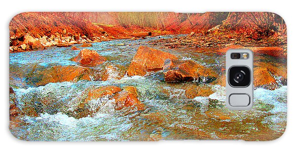 Running Creek 2 By Christopher Shellhammer Galaxy Case