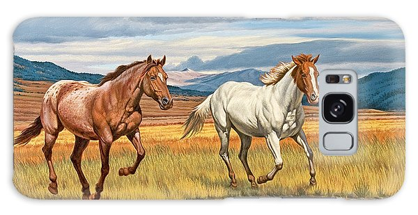 Montana Galaxy Case - Running Free by Paul Krapf