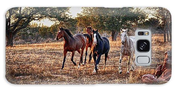 Running Horses Galaxy Case