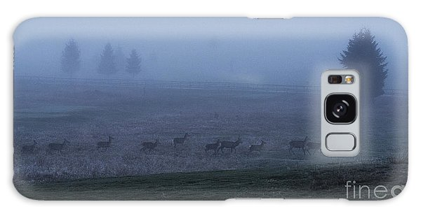 Running In The Mist Galaxy Case by Yuri Santin