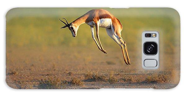 Jump Galaxy Case - Running Springbok Jumping High by Johan Swanepoel
