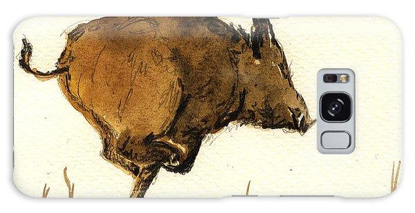 Pig Galaxy Case - Running Wild Boar by Juan  Bosco