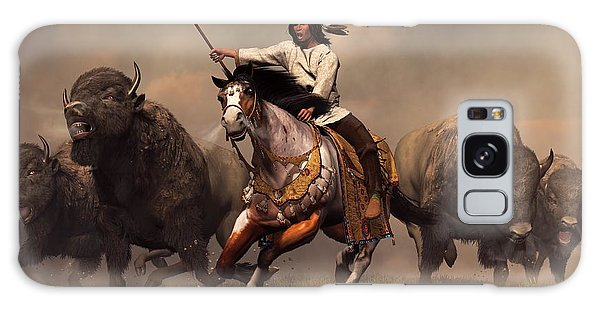 Running With Buffalo Galaxy Case by Daniel Eskridge