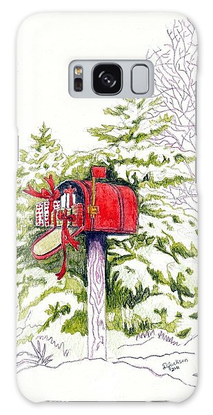 Country Living Christmas Delivery Galaxy Case