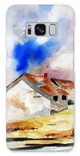 Rural Houses And Dramatic Sky Galaxy Case by Carlin Blahnik