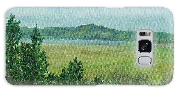 Rural Landscape Art Original Colorful Oil Painting Swan Lake Oregon  Galaxy Case