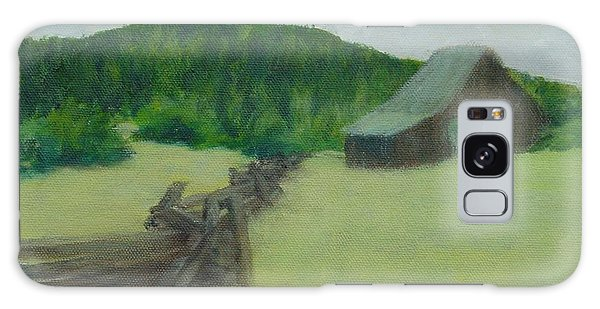 Rural Landscape Colorful Oil Painting Barn Fence Galaxy Case