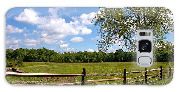 Fence Post Galaxy Case - Rural Landscape by Olivier Le Queinec