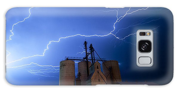 Rural Lightning Storm Galaxy Case by Art Whitton