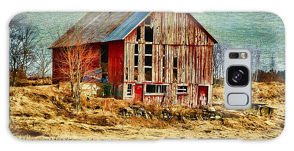 Rural Rustic Vermont Scene Galaxy Case