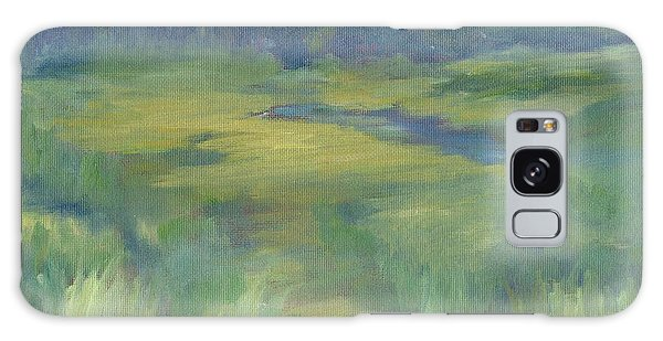 Rural Valley Landscape Colorful Original Painting Washington State Water Mountains K. Joann Russell Galaxy Case