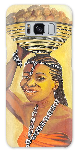 Rural Woman From Cameroon Galaxy Case by Emmanuel Baliyanga