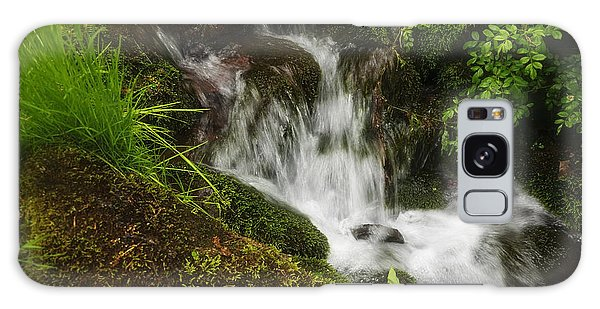 Rushing Mountain Stream And Moss Galaxy Case