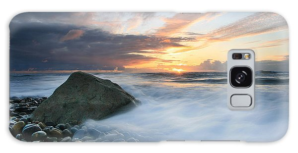 Rushing Water Sunset Galaxy Case