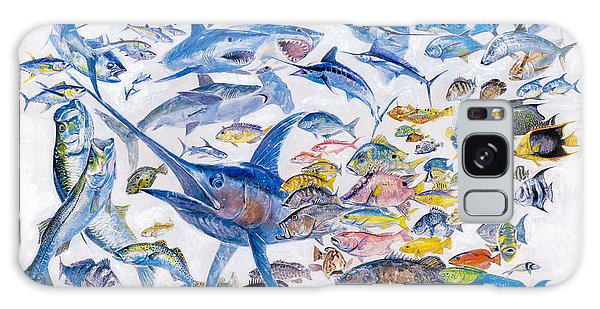 Mangrove Snapper Galaxy Case - Russ Smiley Gamefish Collage by Carey Chen