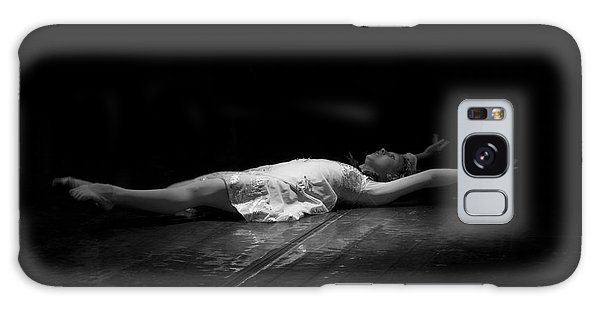 Russian Ballerina As A Melting Snowflake. Galaxy Case