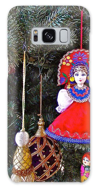 Russian Christmas Tree Decoration In Fredrick Meijer Gardens And Sculpture Park In Grand Rapids-mi Galaxy Case