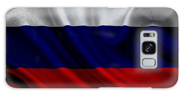 Russian Flag Waving On Canvas Galaxy Case
