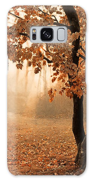 Rust Apricot Orange Maple Autumn Sunrise Galaxy Case