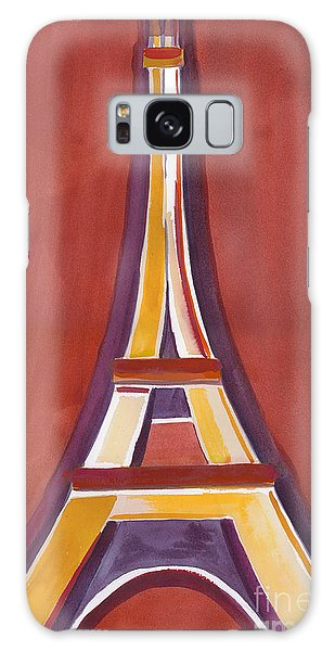 Rust Yellow Eiffel Tower Galaxy Case