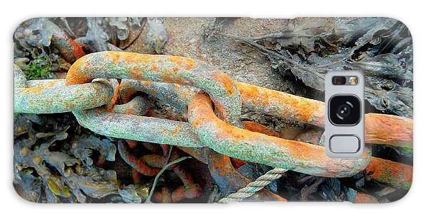 Rusty Chain Galaxy Case - Rusted Chain by Tony Craddock/science Photo Library