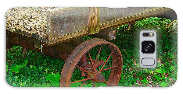 Rusted Wagon Wheel Galaxy Case by Val Miller