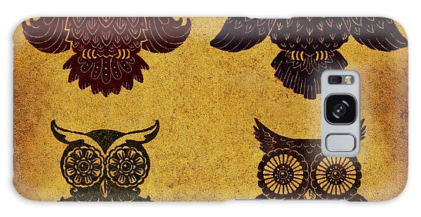 Patina Galaxy Case - Rustic Aged 4 Owls by Kyle Wood