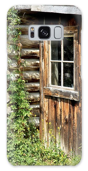 Rustic Cabin Window Galaxy Case