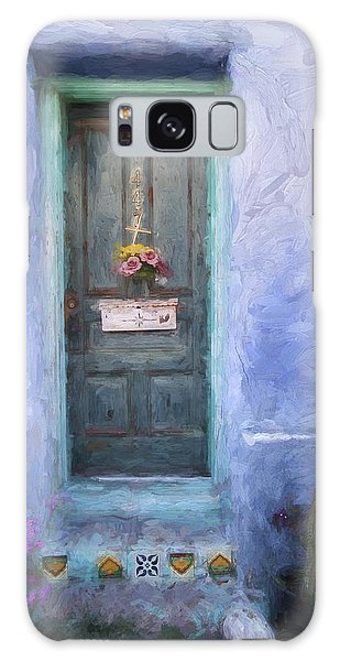 Rustic Door In Tucson Barrio Painterly Effect Galaxy Case