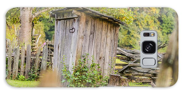 Rustic Fence And Outhouse Galaxy Case