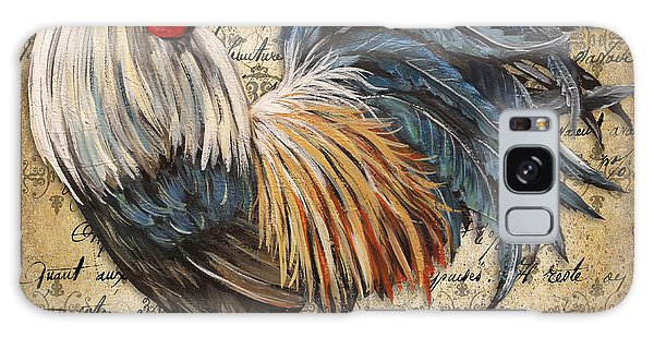 Rustic Rooster-jp2119 Galaxy Case by Jean Plout
