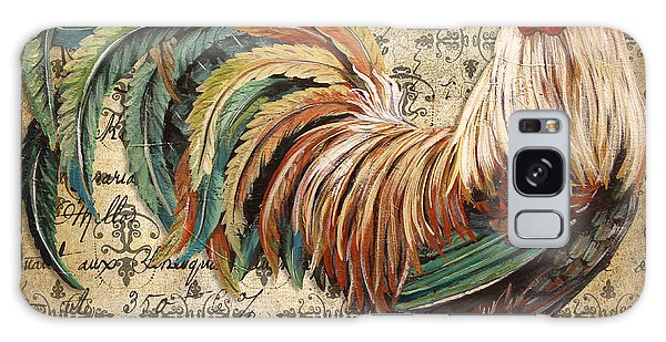 Rustic Rooster-jp2120 Galaxy Case by Jean Plout