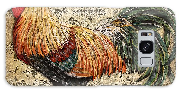 Rustic Rooster-jp2121 Galaxy Case