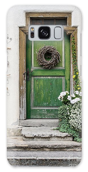 Rustic Wooden Village Door - Austria Galaxy Case