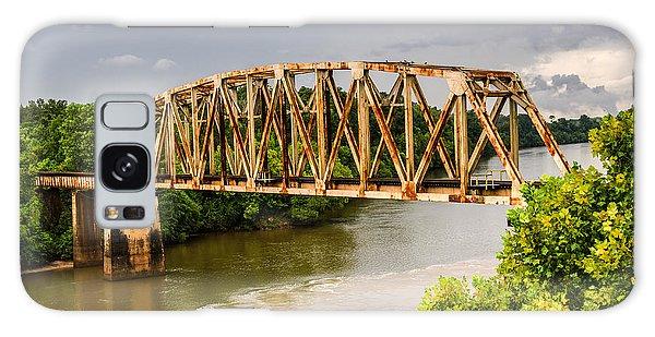 Rusty Old Railroad Bridge Galaxy Case