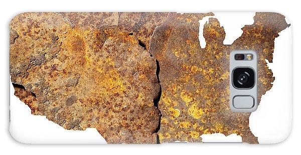 Rusty Usa Map Galaxy Case