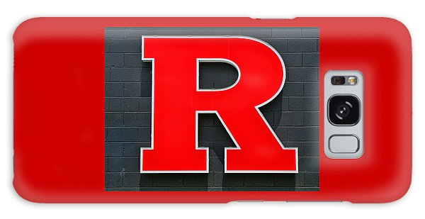 Rutgers Block R Galaxy Case by Allen Beatty
