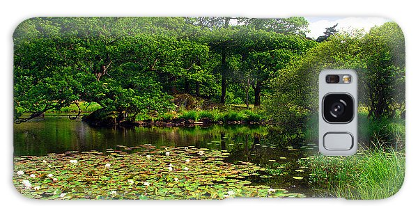 Rydal Water Lilies Galaxy Case by Graham Hawcroft pixsellpix