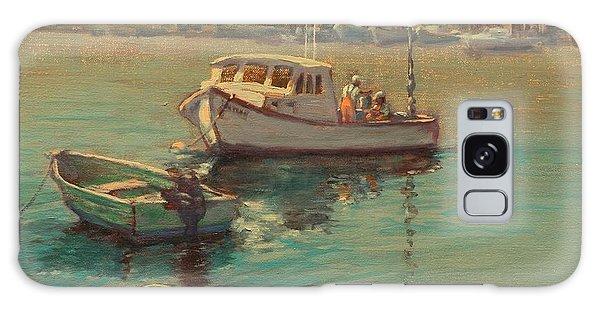 Rye Harbor Lobstermen Galaxy Case