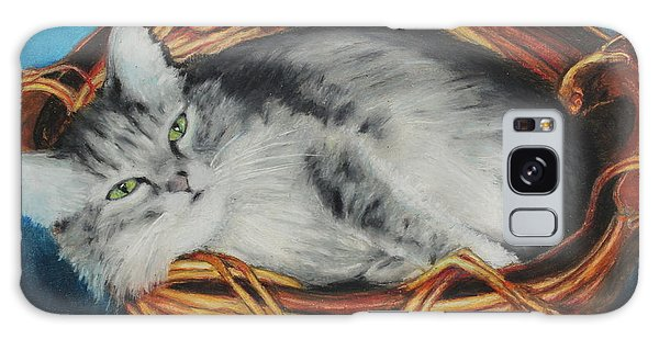 Sabrina In Her Basket Galaxy Case by Jeanne Fischer