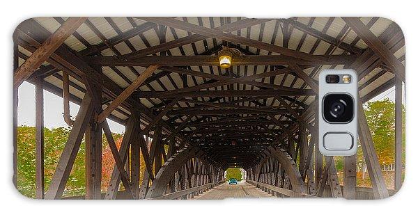 Saco River Bridge Galaxy Case by Karen Stephenson