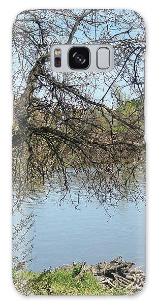 Fall At Sacramento River Scenic Photography Galaxy Case
