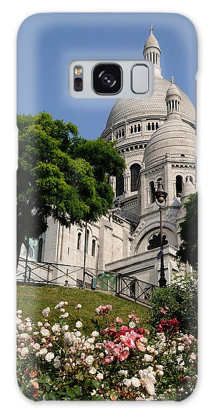 Sacre Coeur Flowers Galaxy Case by Jeremy Voisey