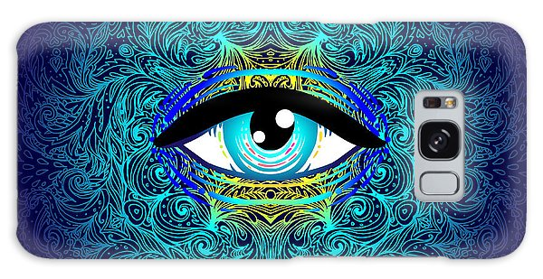 Spirituality Galaxy Case - Sacred Geometry Symbol With All Seeing by Gorbash Varvara