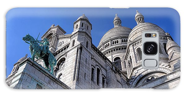 Sacred Heart Galaxy Case - Sacred Heart Basilica  by Olivier Le Queinec